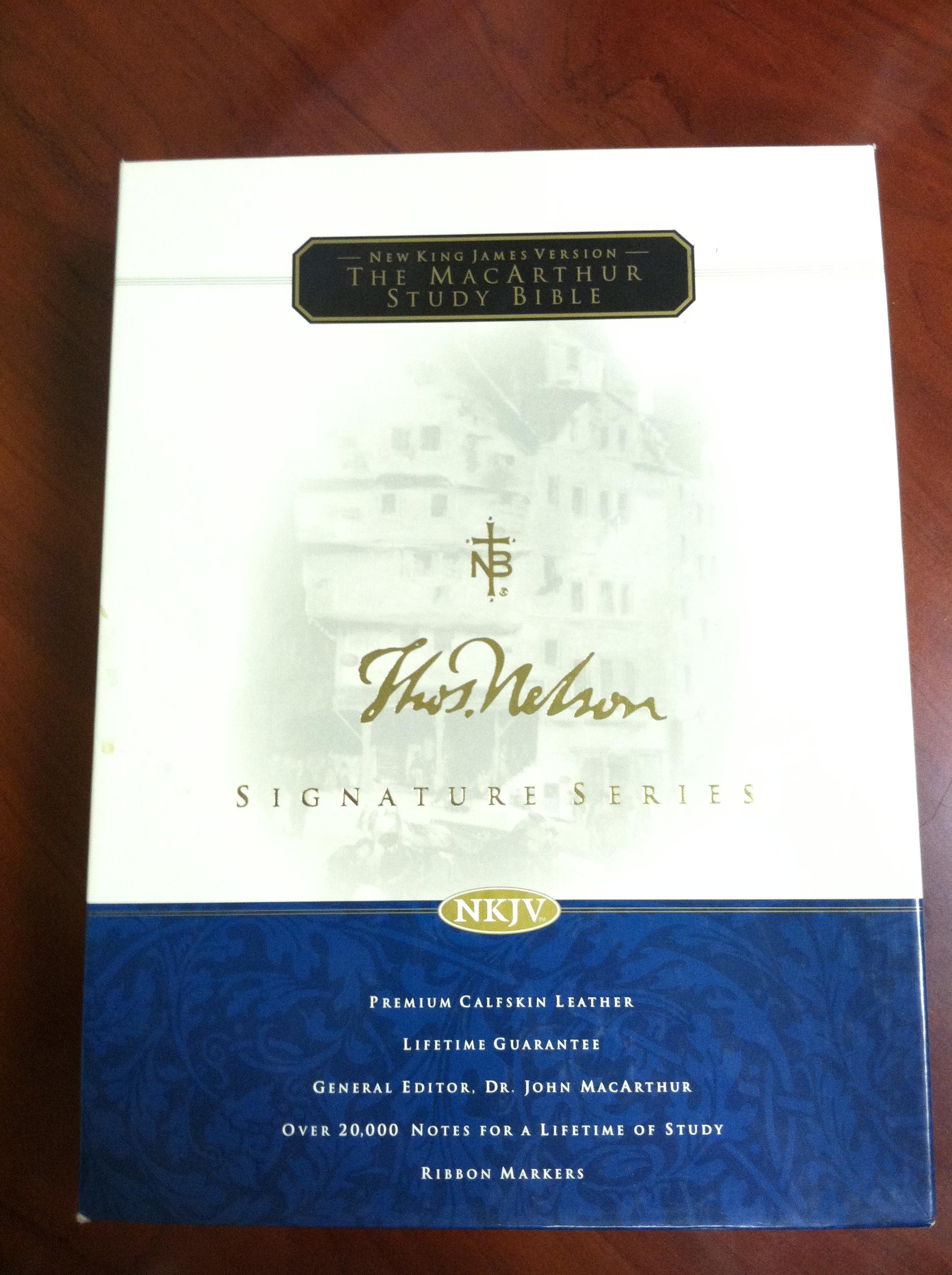 Bible Review – MacArthur Study Bible NKJV Black Calfskin